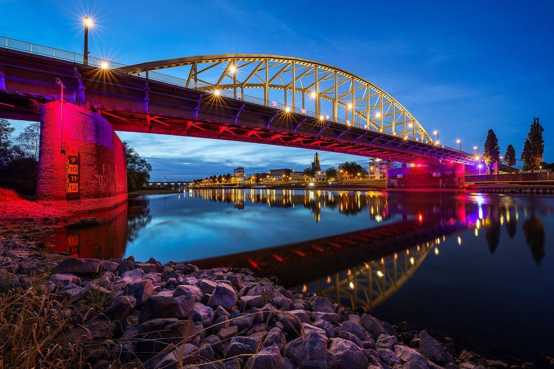 Фото бесплатно Мост Джона Фроста, Арнем, Рейнский мост - на рабочий стол
