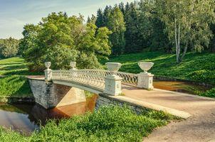Павловский парк и Чугунный мост · бесплатное фото