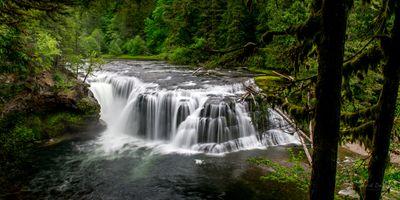 Лесной водопад в США · бесплатное фото