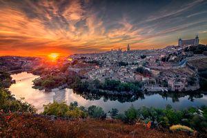 Бесплатные фото Toledo,Толедо,Испания,закат,городской пейзаж