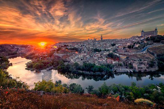 Фото бесплатно городской пейзаж, закат, Испания