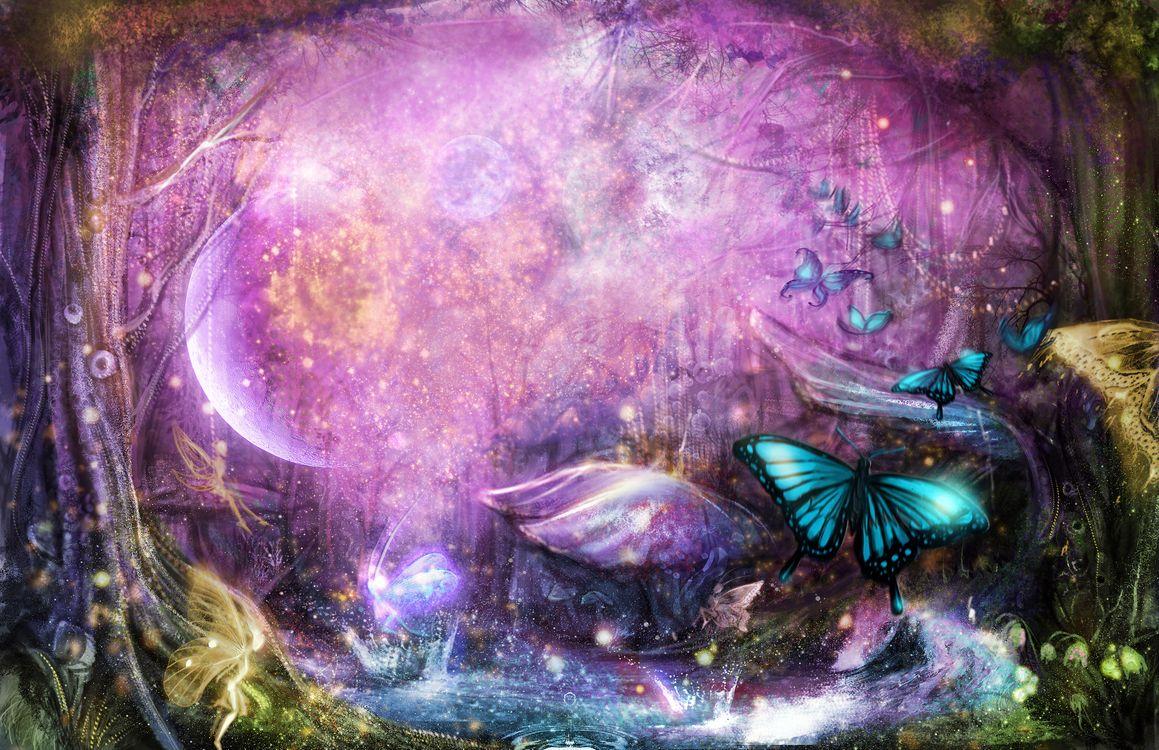 Обои Butterfly, Fantasy, Artist картинки на телефон