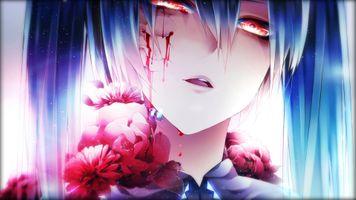 Фото бесплатно Хацунэ Мику, кровь, вокалоид