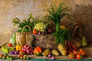 Зелень и овощи · бесплатное фото