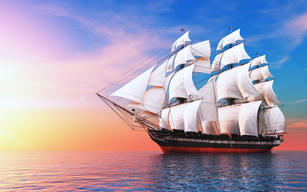 Free photo boats, clouds, ocean, sailboat, sea, ship, sky - to desktop