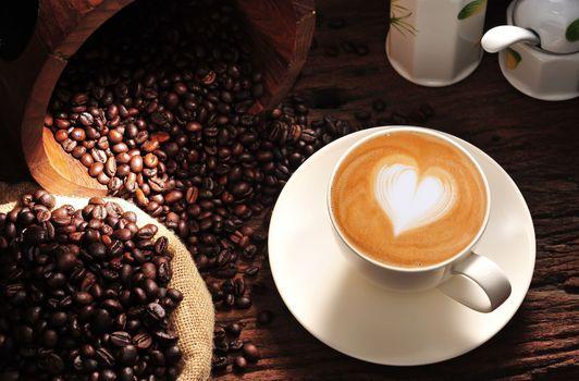 Фото бесплатно капуччино, кофе, сердце