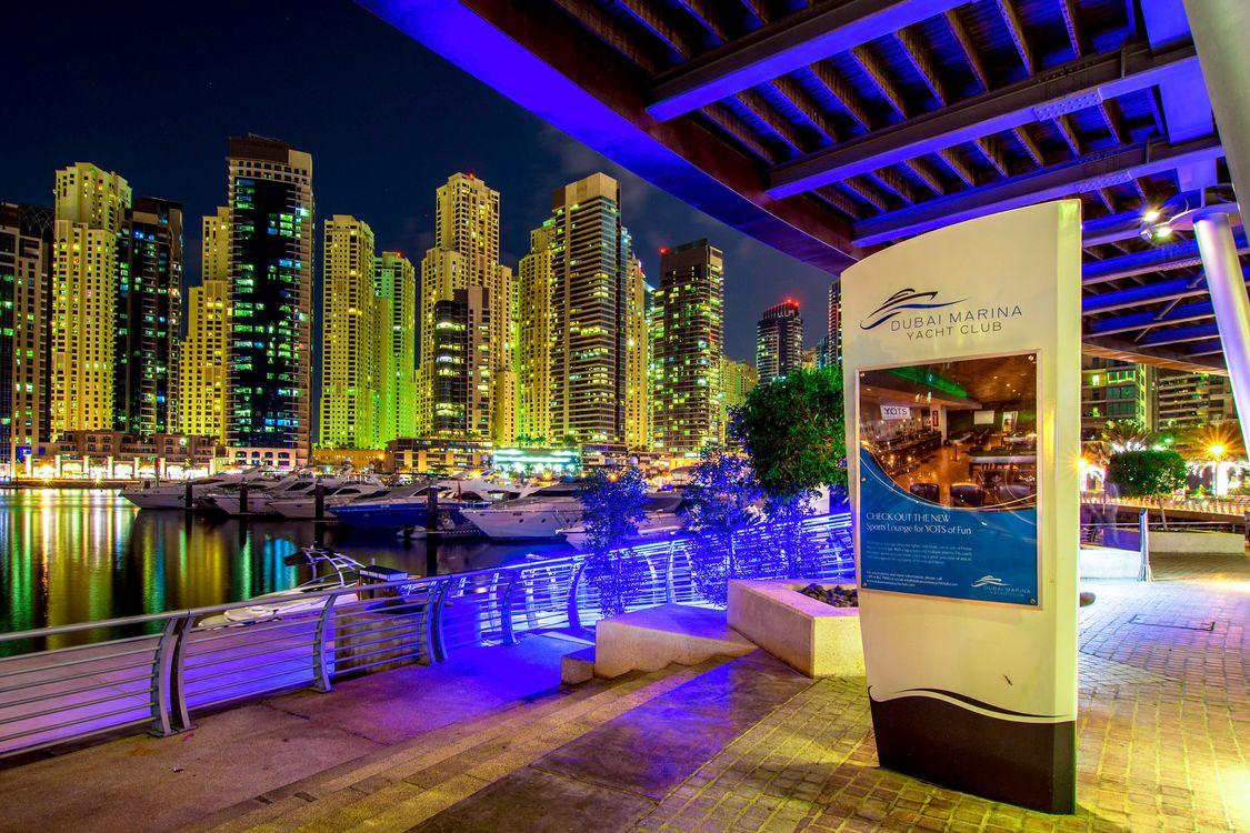 Фото бесплатно город, ночные города, ОАЭ - на рабочий стол