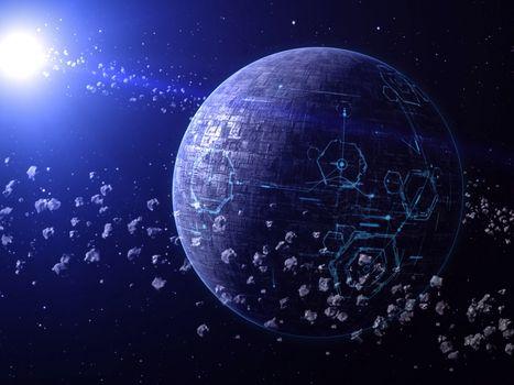 Photo free zero gravity, glow, galaxy