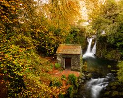 Photo free Rydal Hall, Grotto waterfall, Lake District