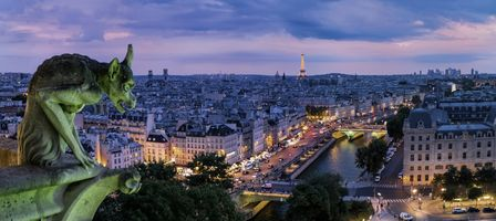 Фото бесплатно Эйфелева башня, сумерки, ночь