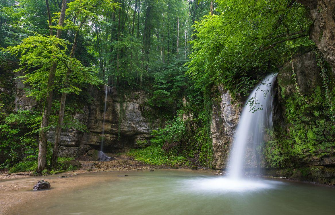 Фото бесплатно Швейцария, Giessen Waterfall, лес - на рабочий стол