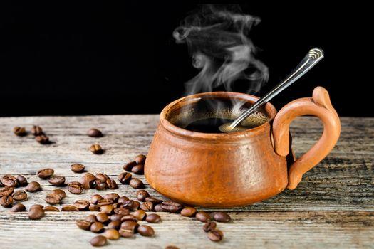 Кофе в уютной чашке