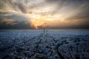 Бесплатные фото париж,франция,горизонт,закат,эйфелева башня,облака,ориентир