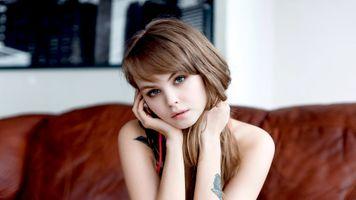 Бесплатные фото Анастасия Щеглова,модель,красивая,русская,блондинка,голубые глаза,чувственные губы