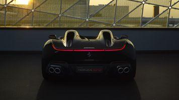 Заставки Ferrari Monza Sp2, суперкары, вид сзади