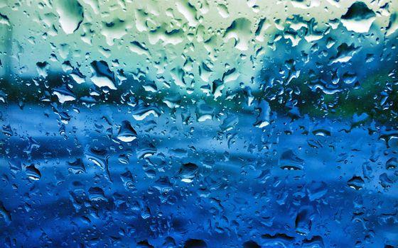 Фото бесплатно стекло, капли, синий