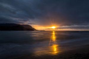 Фото бесплатно закат, тучи, горизонт