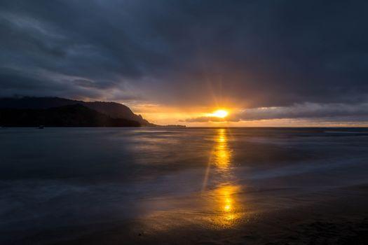 Photo free sunset, clouds, horizon