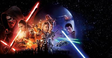 Фото бесплатно приключения, Star wars: the force awakens 2015, знамя