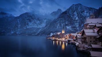 Заставки город, горы, Австрия