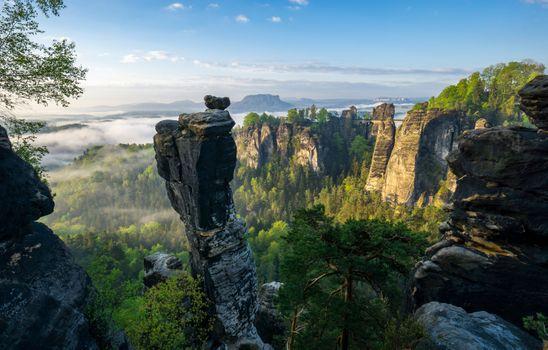 Фото бесплатно Wehlnadel, Saxon Switzerland National Park, Tourismusverband S chsische Schweiz e V Philipp Zieger