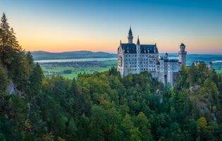 Фото бесплатно Замок Нойшванштайн, Neuschwanstein Castle, Хоэншвангау