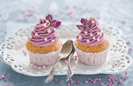 Фото бесплатно торт, крем, кексы
