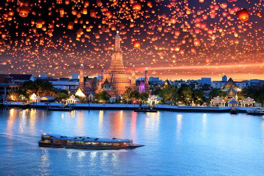 Фото бесплатно Праздник свечей в Таиланде, Khao Phansa, Бангкок