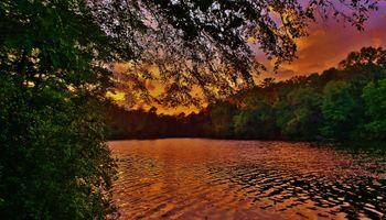 Фото бесплатно sunset, Lake Waterford, Pasadena, Maryland, USA