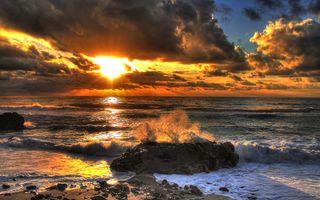 Заставки пляжи, пейзаж, океан