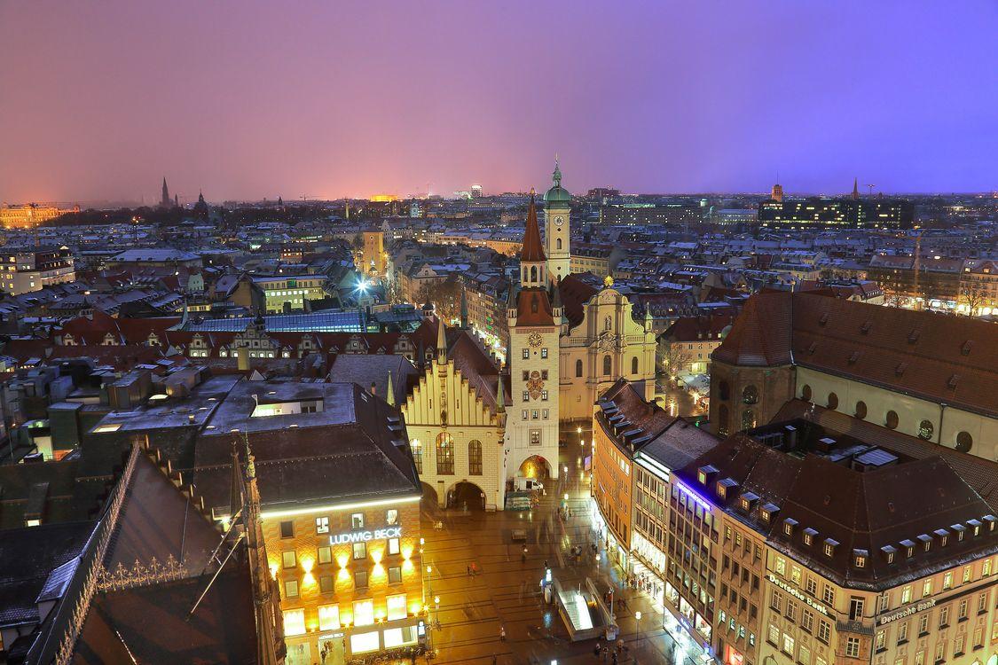 Фото бесплатно Мюнхен, ночь, город - на рабочий стол