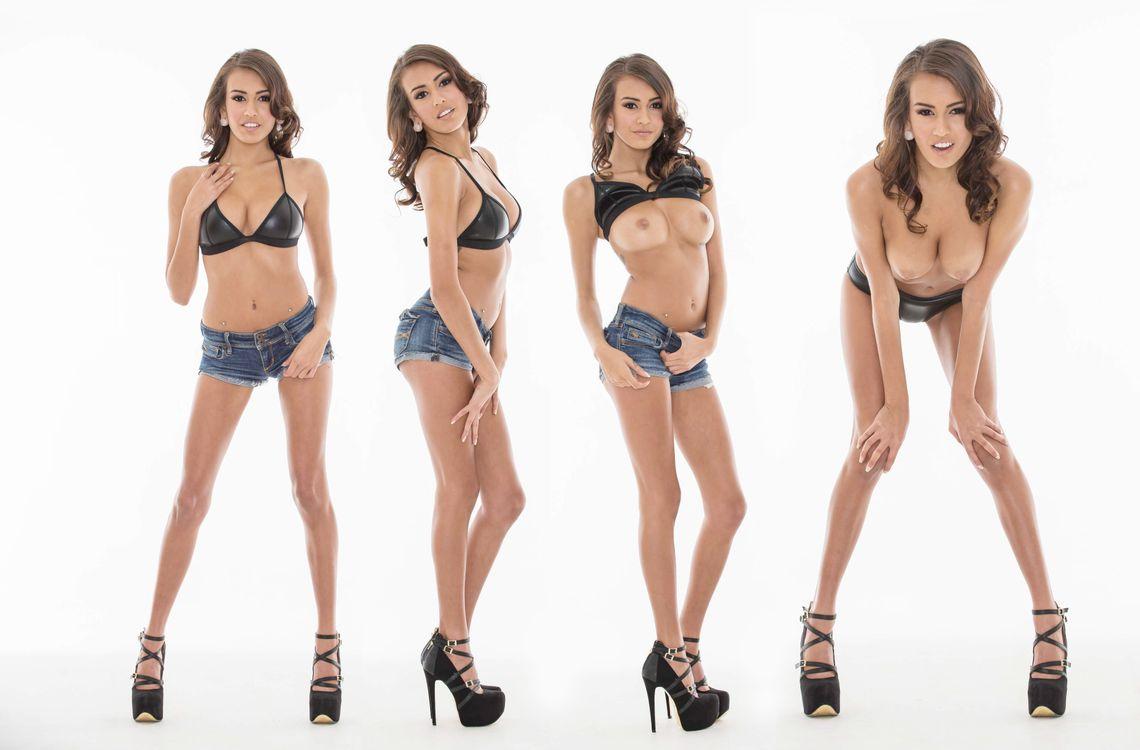 Фото бесплатно Дженис Гриффит, модель, девушка, брюнетка, секси, лицо, улыбка, волосы, соски, сиськи, ню, коллаж, эротика