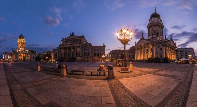 Photo free Germany, night city, illumination