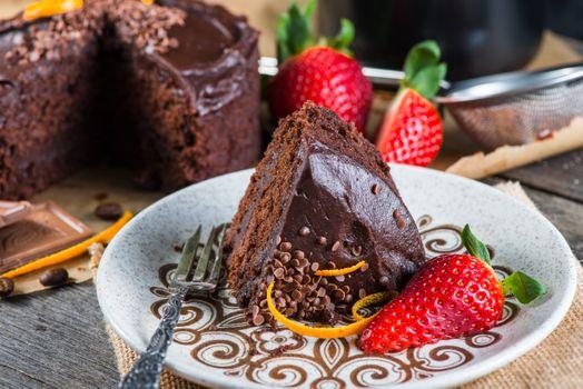 Фото бесплатно десерт, торт, клубника