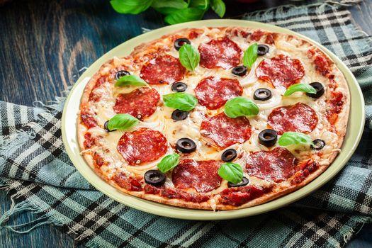 Very delicious pizza · free photo