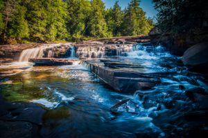 Фото бесплатно Река Преск-Айл, Верхний полуостров, Мичиган