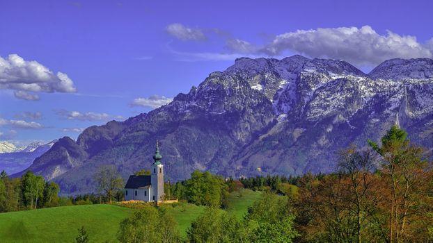 Бесплатные фото Зальцбург,природа,сельская местность,Bavaria,Земля Берхтесгаденер-Ланд,горы,небо,часовня,пейзаж