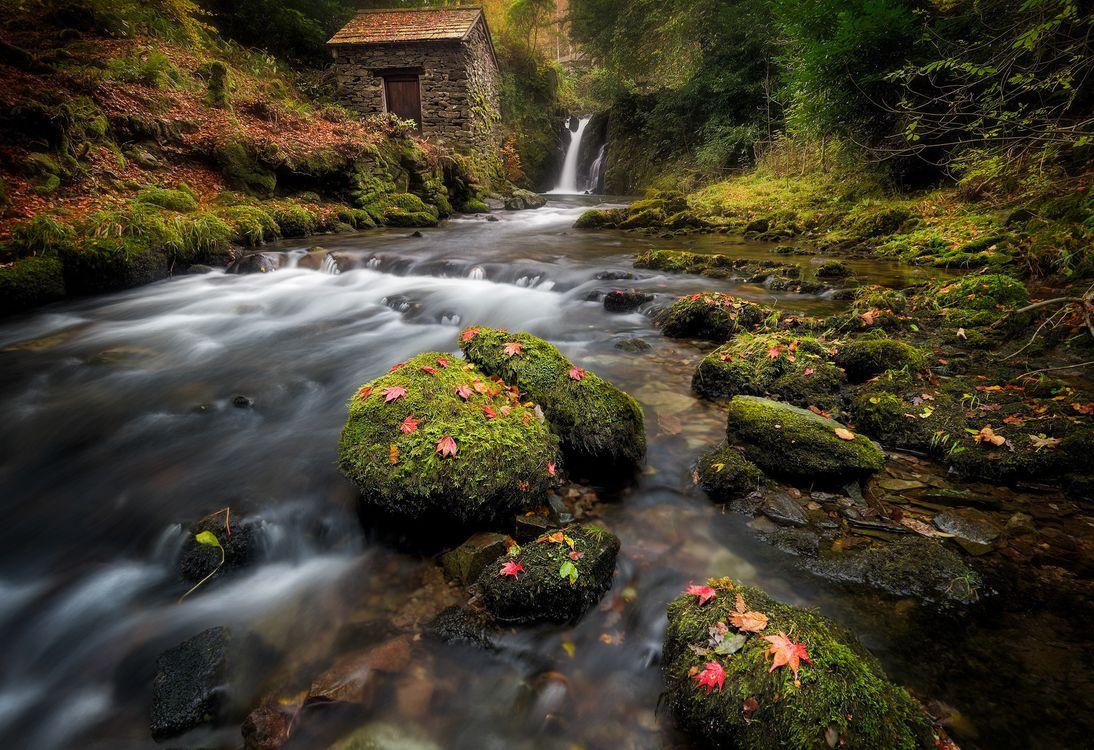 Фото бесплатно Амблсайд, красивый ручей, Lake District National Park - на рабочий стол