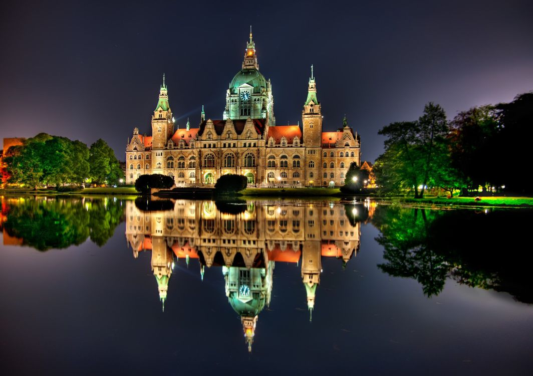 Фото бесплатно Germany, Hannover, ратуша - на рабочий стол