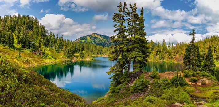 Фото бесплатно Hayes Lake, гора Бейкер Национальный лес, озеро
