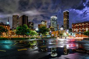 Бесплатные фото молния,гроза,буря,шторм,Хьюстон,Техас,в центре города