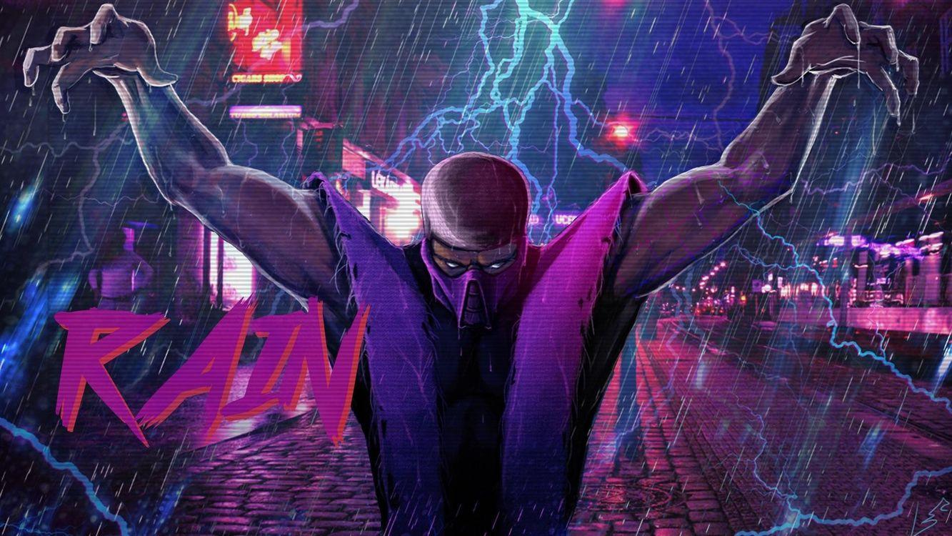 Фото бесплатно Mortal Kombat, дождь, молния - на рабочий стол