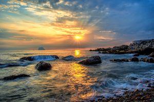 Заставки берег, пейзаж, закат