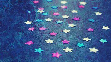Бесплатные фото звезды,шаблон,обои,задний план,конфетти,синий,лепесток