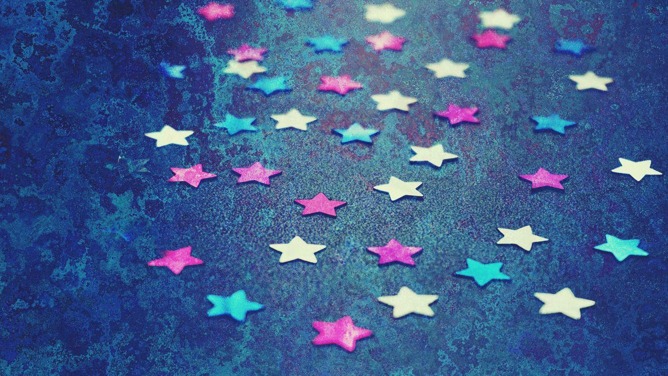 Фото бесплатно звезды, шаблон, обои, задний план, конфетти, синий, лепесток, звезда, обои для рабочего стола компьютера, морская биология, пространство, текстуры