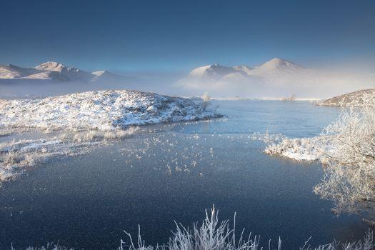 Бесплатные фото mist,winter,RannochMoor,Scotland,UK