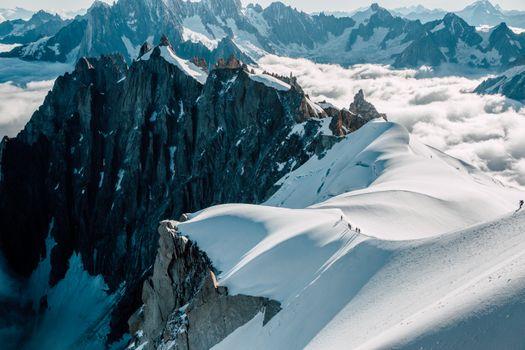 Фото бесплатно горы, снег, синий