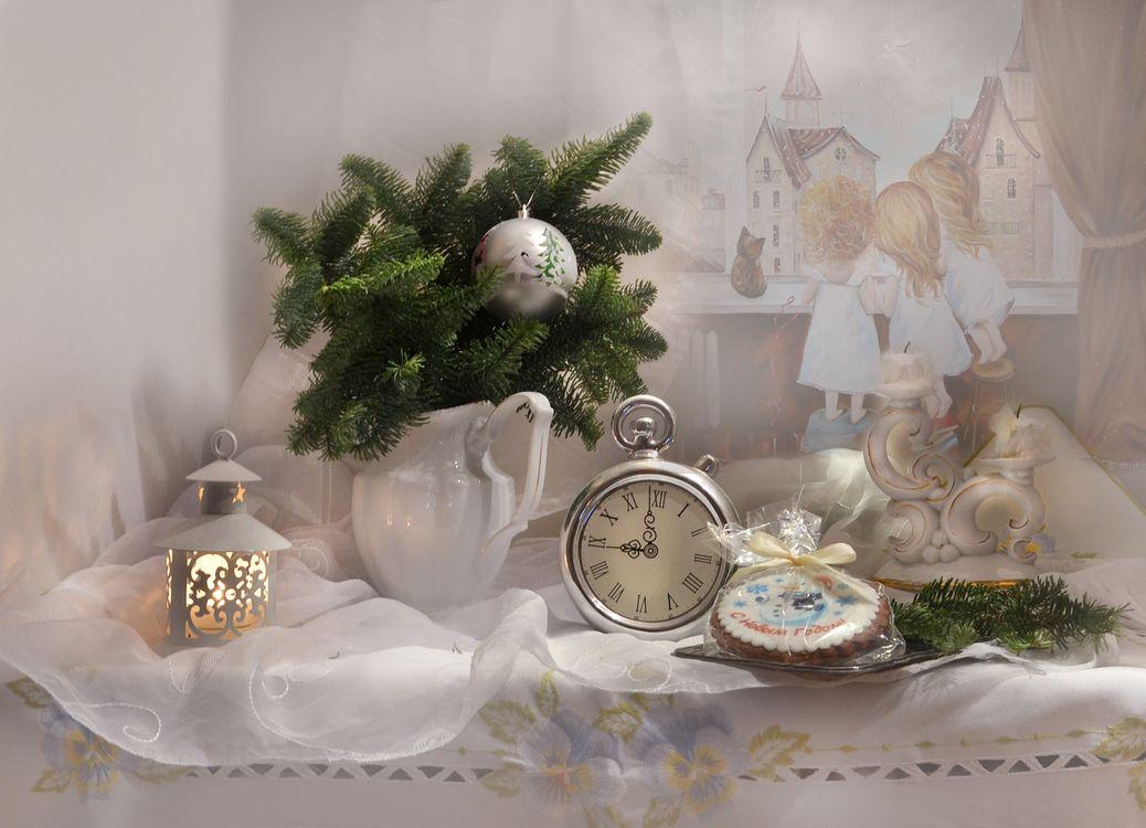 Фото бесплатно Рождественские украшения, осень, цветы - на рабочий стол