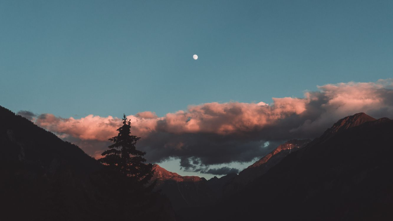 Фото бесплатно Ideia, лето, растения, природа, обои, синий, лес, закат, облака, горы, Caruso, Рокко, исследовать, Граубюнден, Швейцария, пейзажи
