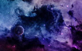 Фото бесплатно космос, вселенная, планеты, звёзды, созвездия, свечение, невесомость, вакуум, галактика